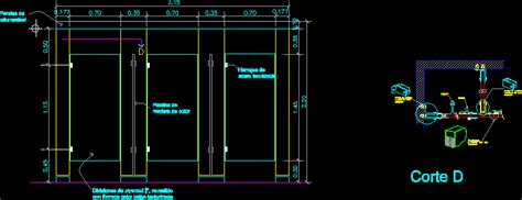 Bathroom Partition Details Dwg Restroom Partitions In Autocad Drawing Bibliocad