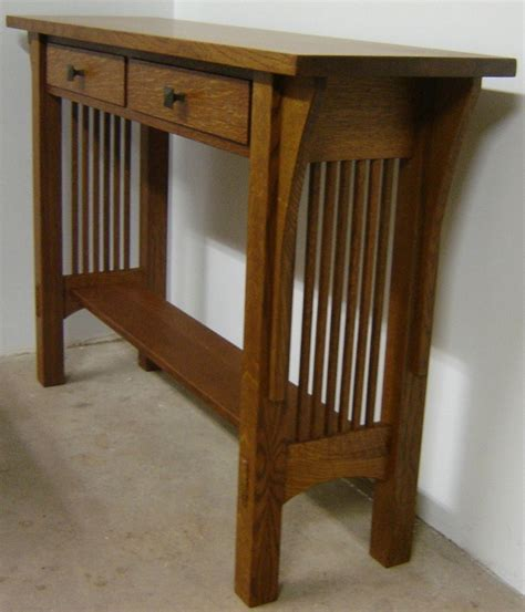mission sofa table plans mission style sofa table plans free woodworking projects