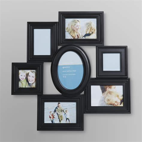 collage picture frames tabletop memories black collage picture frame with 6