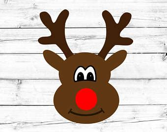 reindeer face svg etsy