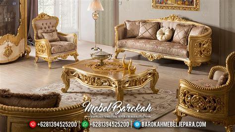 Kursi Ruang Tamu Ukiran mb 0073 set kursi sofa ruang tamu mewah ukiran luxury emas