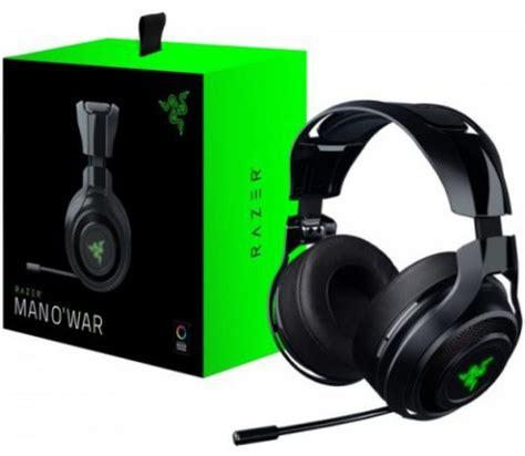 Razer Manowar 71 Surround Sound Gaming Headset razer mano war lag free wireless 7 1 pc gaming headset