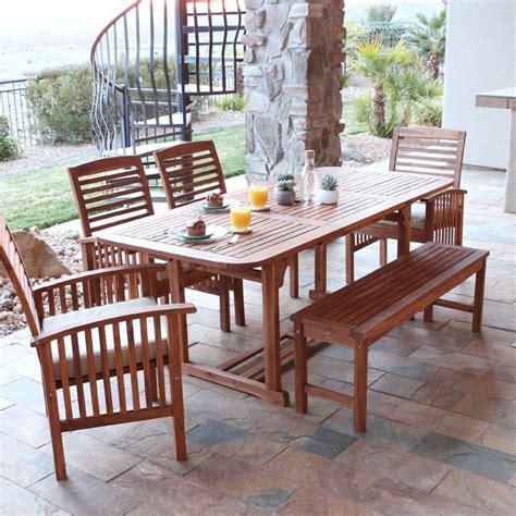 brown patio set walker edison ow6sbr sundowner 6 brown patio dining set