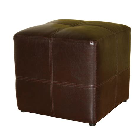 wholesale ottomans wholesale interiors nox bicast leather ottoman brown st 19