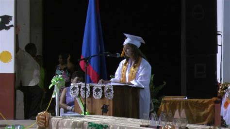 h k high school graduate makes 2013 new england patriots high school graduation i h s belize 2013 youtube