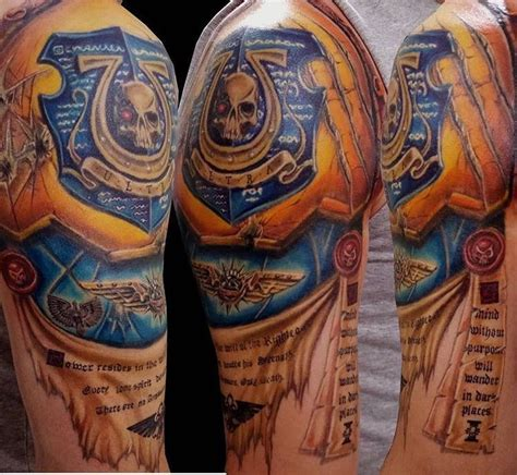 the tattoo company ultramarines 2nd company chion warhammer 40k