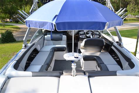 used boat umbrella boat table for pontoons ski boats cruisers and fishing
