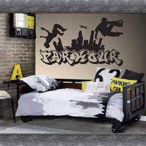Wall Stickers Graffiti Details About Parkour Free Running Jumping Urban Style