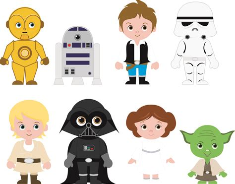 imagenes de star wars kawai cliparts fofinhos para festa star wars cute cliparts for