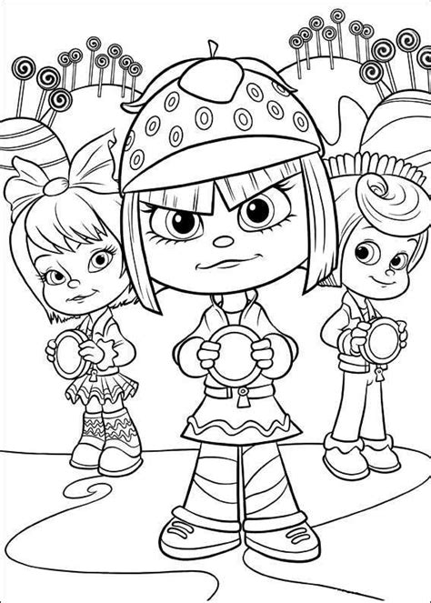 coloring page wreck it ralph girls random coloring