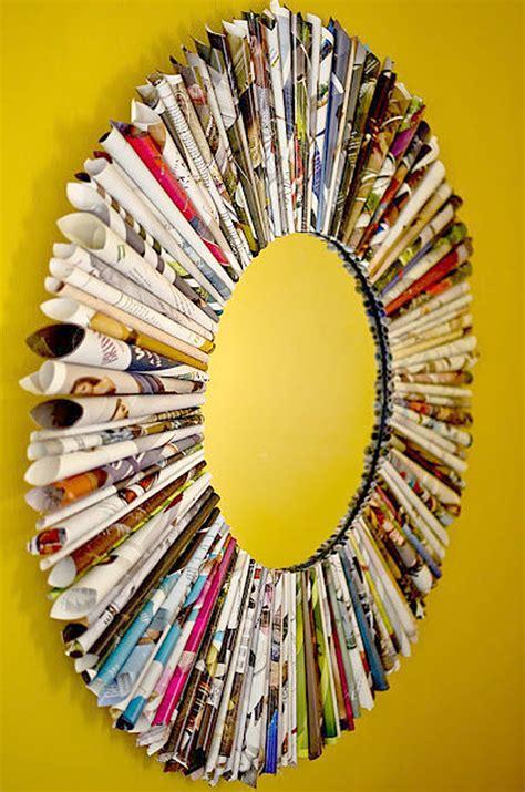 Cermin Frame yuk bikin pigura cermin dari majalah bekas rumah dan