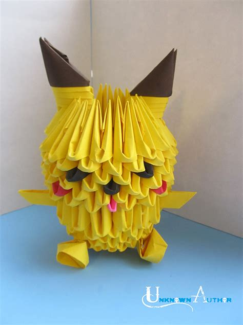 How To Make 3d Paper Sculptures - 3d origami paper sculptures of pop culture characters