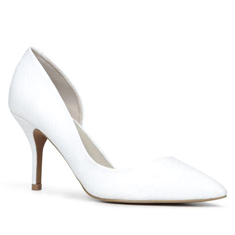 aldo aceidia pointed toe court shoe in white lyst