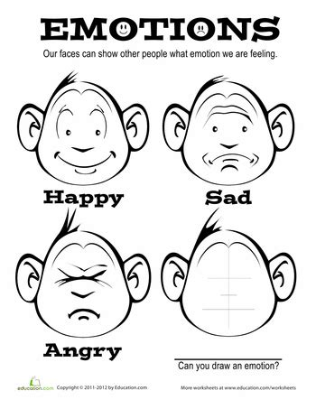 coloring pages emotions printable free coloring worksheets for kids expressing emotions