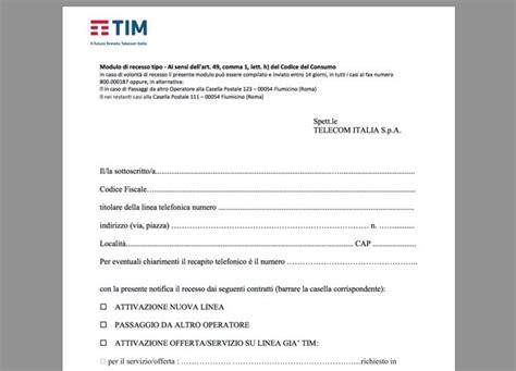 modulo disdetta mobile fastweb modulo disdetta telecom salvatore aranzulla