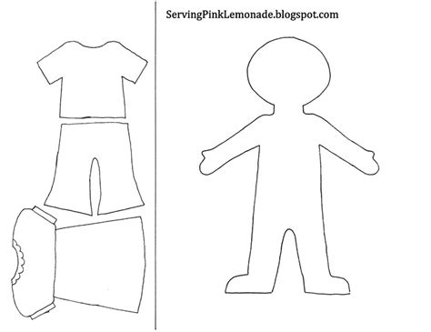 person template preschool template for and clothes also mailbox tree for