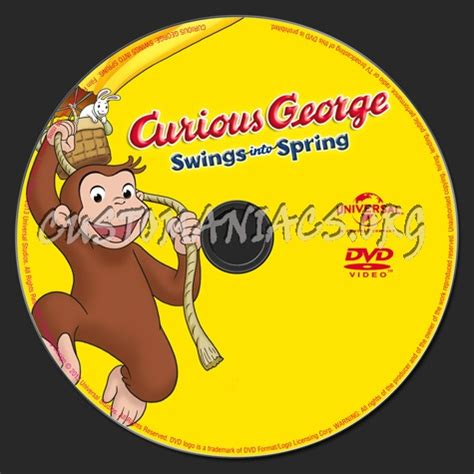 curious george swings curious george swings into spring dvd label dvd covers