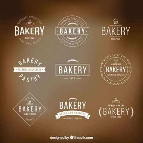 bakery logo templates pack vector premium download