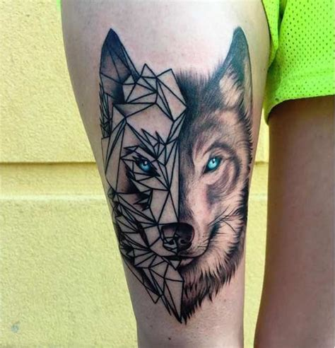 tattoo geometric face 52 beautiful wolf tattoo designs with meanings
