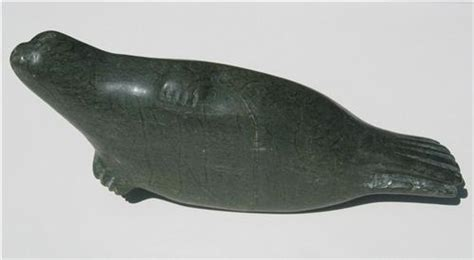 inuit soapstone carvings value canadian inuit seal soapstone carving
