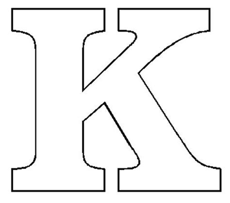 letter k template alphabet numbers block patterns