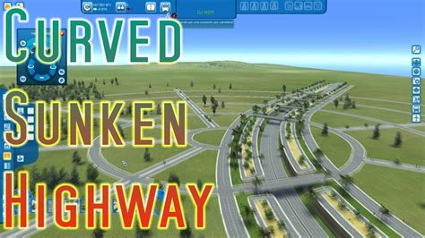 road layout cities xl cities xl xxl curved sunken highway in a circular road