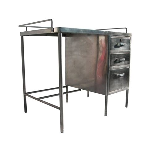 stylish antique industrial metal desk at 1stdibs vintage industrial stainless steel desk at 1stdibs