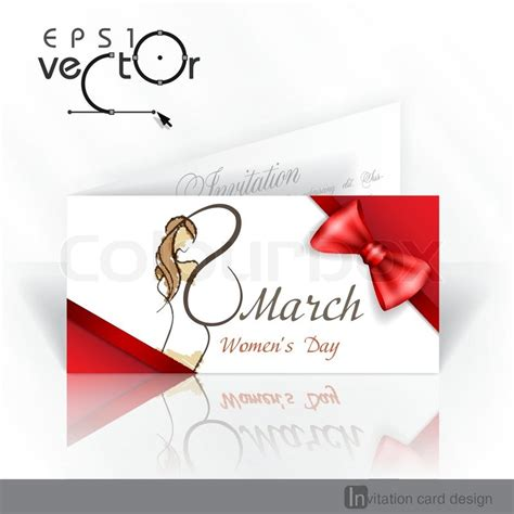 s day card design template invitation card design template happy s day march