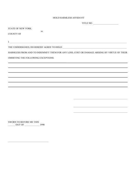 free hold harmless agreement template 40 hold harmless agreement templates free template lab