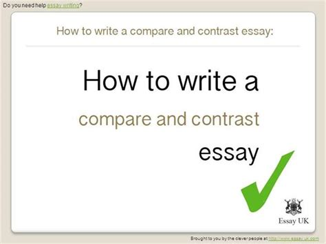 how to write compare and contrast essay sle how to write a compare and contrast essay essay writing
