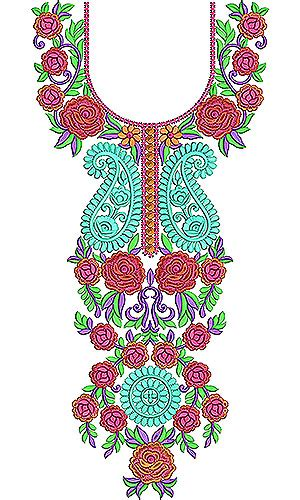 embroidery design gala moroccan dubai style neck yoke gala embroidery design