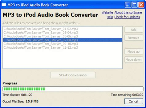 format audio ipod i have a book reading on an mp3 disc and want to