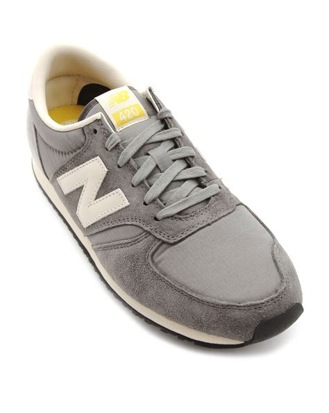new balance 420 sneakers new balance 420 grey sneakers in gray for grey lyst