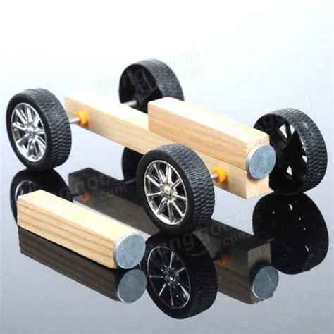 Handmade Wooden Cars - diy handmade small wooden car kit magnetic wood model