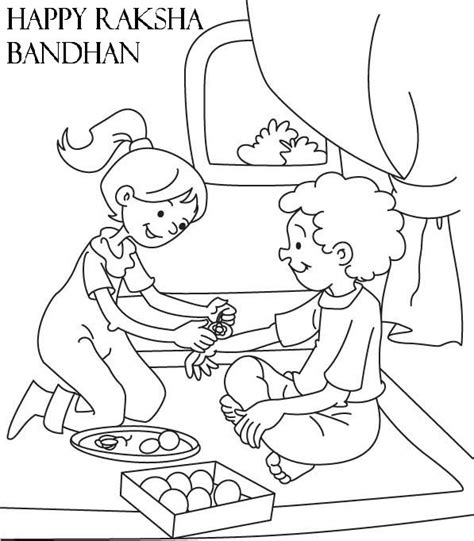 raksha bandhan 2015 coloring page work sheets for kids