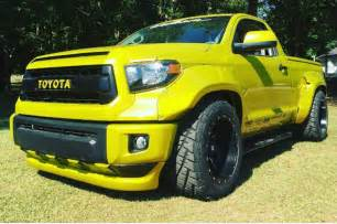 Custom Toyota Custom Toyota Tundra Gets Wide And Bright For Rod