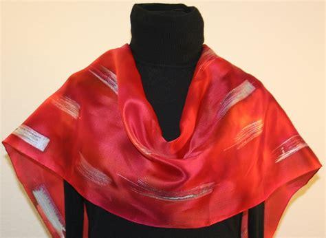 custom designed unique painted silk scarves and