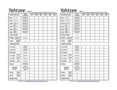 yahtzee score card template pdf yahtzee score sheet free create edit fill and