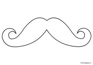 mustache coloring pages free coloring pages