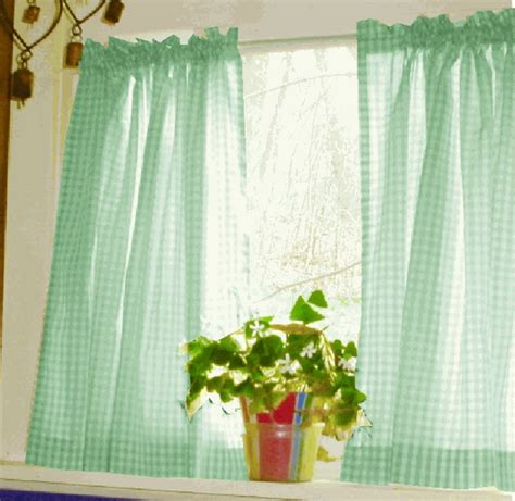 green and white gingham curtains mint green and white gingham check kitchen cafe tier curtains