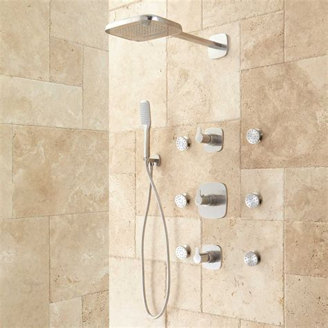 bath shower systems arin thermostatic shower system with shower 6