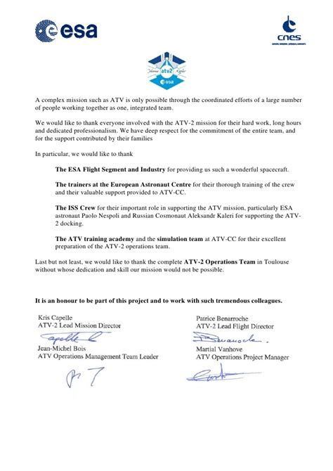 Appeal Letter Esa Esa Cnes Atv Appreciation Letter