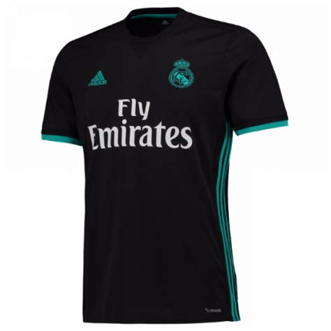 Jersey Real Madrid Away Patch Chion 17 18 Grade Ori Official 17 18 real madrid away black soccer jersey player version real madrid jersey shirt sale