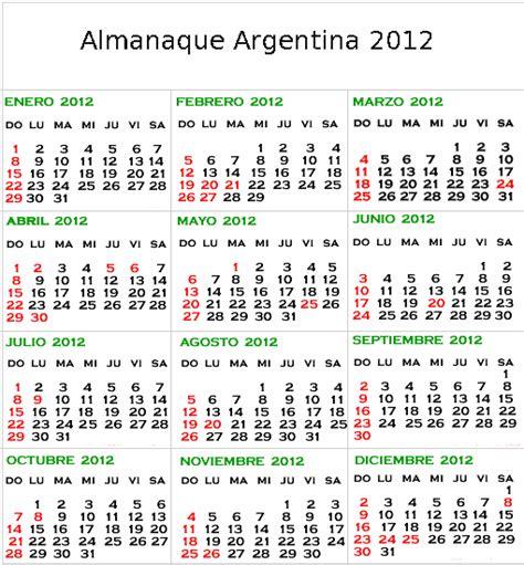 Calendario O Almanaque Mydespacho Por Ci De Jpf Almanaque Argentina 2012