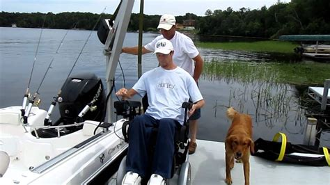 wheelchair accessible fishing boat by cion marine youtube - Handicap Fishing Boat