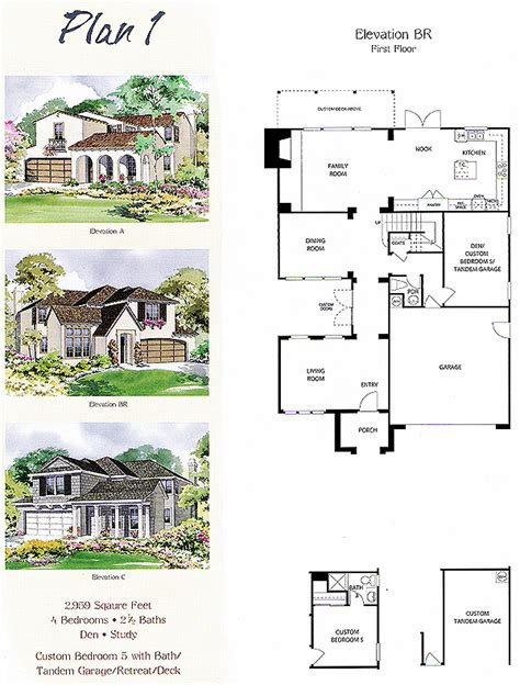 tract home tract home floor plans home plan