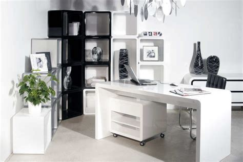 White Office Furniture White Modern Office Desk