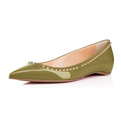 comfortable pointed toe flats women s green with rivets pointed toe comfortable flats