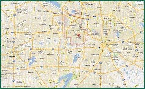map of area dfw area map map of dfw area usa
