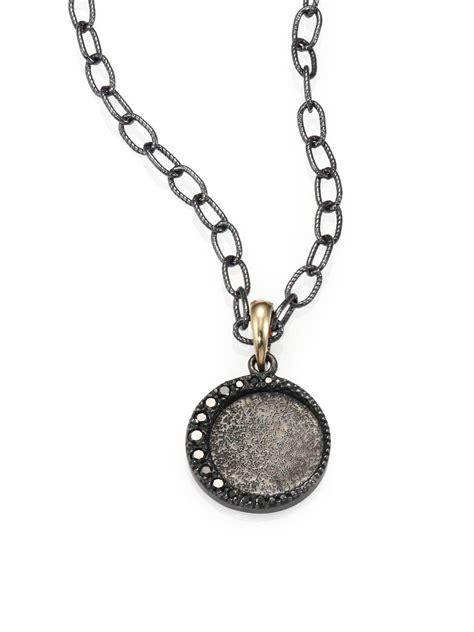 metallic necklace mizuki black oxidized sterling silver and 14k